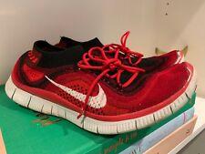 b74db48653b8 Men s Nike Free Flyknit 5.0 Running Shoes 615805-616 Size 9 Red Black