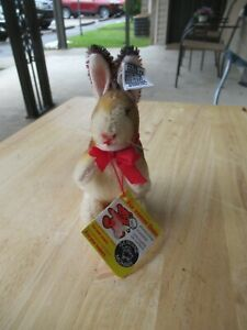 "1983 Steiff 5"" Rabbit Manni Limited Anniversary Edition - # 3020/10 - Mohair"