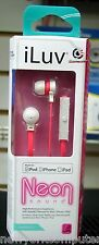 iLuv iEP335WPKN Neon Sound High Performance Earbuds For; iPod, iPhone, iPad