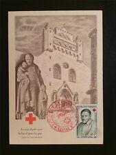France MK 1958 CROCE ROSSA RED CROSS Vincent de Paul carte MAXIMUM CARD MC c7512