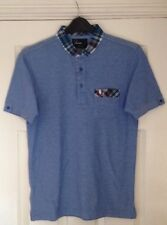 Fred Perry Homme prince carreaux bleu POLO SHIRT coton à manches courtes Taille S. BNWT