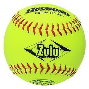"""Diamond 11SC 44 375 USA Zulu 11"""" Slowpitch Softballs -12 Ball Pack"""