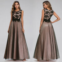 UK Ever-Pretty Bridesmaid Gowns A-Line Sleeveless Lace Mesh Cocktail Party Dress