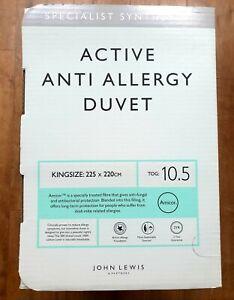 John Lewis Kingsize Active Anti Allergy duvet-10.5 tog. BNIB
