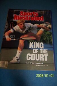 1989 Sports Illustrated US OPEN Champion BORIS BECKER King Of The Court GERMANY