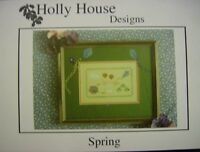 "Holly House Designs  ""Spring""  cross stitch pattern"