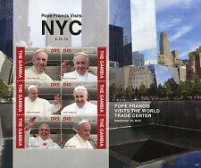 Gambia 2015 MNH Pope Francis Visits NYC 6v M/S World Trade Center
