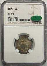 1879 5c GEM  Shield Nickel   NGC PF66  CAC