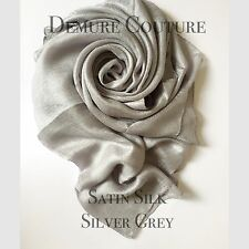 Satin Silk Elegant High Quality Scarf Hijab Pashmina Shawl Wrap Plain Sarong