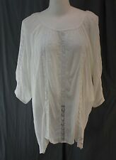 a.n.a. Woman, 2X, White Chocolate Tunic Style Top, New with Tags