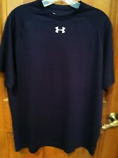 Under Armour sz M Mens Navy Blue Pullover Polyester Shirt