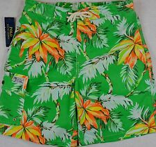 Polo Ralph Lauren Swim Shorts Swimming Trunk Green Palm S Small NWT $85