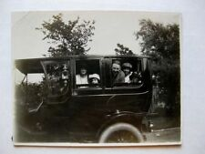 1900s Real Photo Model T Type Car w/ Family In It