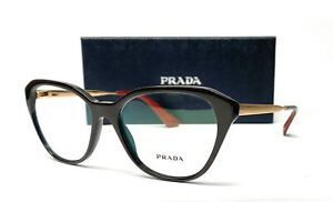 PRADA VPR 28S DHO-1O1 Brown Demo Lens Women's Eyeglasses 52mm