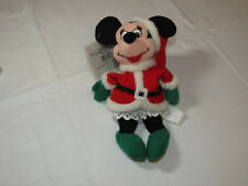 "The Disney Store  Mini Bean Bag Santa Minnie 7"" Christmas Pre owned"