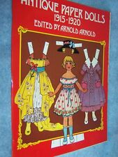 1975 Antique Paper Dolls 1915-1920 by Arnold Arnold