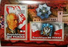 Leaders in World War II K. Sosnkowski (Poland) s/s Tchad Chad MNH #tchad2012-21