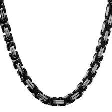 60cm x 5mm BIZANTINO Collar Collar Cadena Acero Inoxidable Plata NUEVO