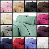 Plain Duvet Quilt Cover with Pillow Case Bedding Set Single Double King All Size