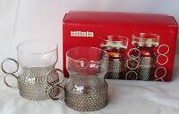 Vintage 2 IITTALA Tsaikka Timo Sarpaneva Tea Glasses in Box Finland Retro