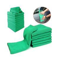 5pcs Green Ultra Soft Microfiber Towel Car Wash Cloth for Car Polish & Wax Care~