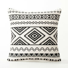 Nordic Geometry Black white pattern Abstract Pillow Cover Home Cushion Cover