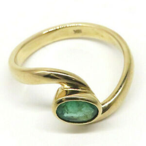 A1 - Genuine Natural EMERALD Gemstone Ring - 18K Gold (1ct, Size 8)