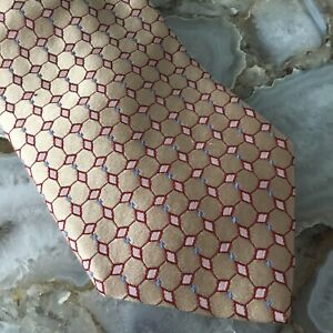 BOSS Hugo Boss Men's Silk Tie Minimalist Diamond Pattern Executive Tie