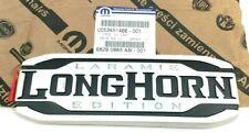 2019-2020 RAM 1500 Laramie Longhorn tailgate chrome black Nameplate Emblem OEM