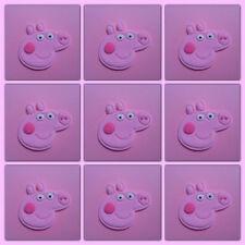 Edible Peppa PIG X 12 fondant Topper Cake Cupcake Birthday Party Celebration