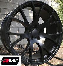 "20"" RW Wheels for Dodge Challenger 20x9"" 2015 SRT Hellcat Style Satin Black Rims"