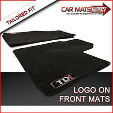 VW Caddy Van TDI 04-ON Tailored Black Car Mats Performance Velour Carpet + Logos