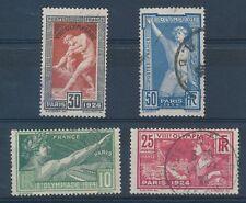 CO - TIMBRE DE FRANCE N° 183 à 186  oblitérés