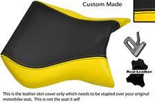 Black & Personalizado Amarillo encaja Cagiva Mito 125 95-07 Frontal De Cuero Funda De Asiento