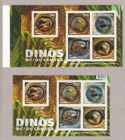 DINOS OF CANADA 2016 = PAIR of SSs = REGULAR and  ANY Position from UNCUT Sheet