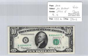 USA $10 Dollars 1950 E B/K - Green - Rare