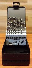 HSS-G Spiralbohrer Satz 1-13x0,5 stgd. Metallbohrer Din338 Industriequalität