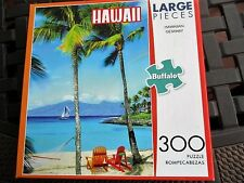 """Buffalo 300 Piece Puzzle """"Hawaii"""" Large Format15""""X21.25"""" Finished Size Complete"""