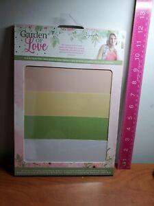 """Crafters Companion Garden of Love A4 Luxury Linen 24pc Cardstock New 8.5""""x11"""""""
