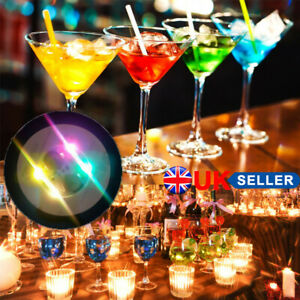 10Pcs LED Lights Cup Sticker Flash Luminous Bottle Cup Mat Coaster Bar Wine Mats