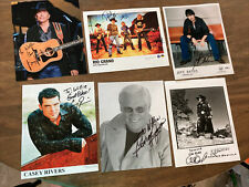 Country Music Lot 6 Authentic Autographed Photos George Strait George Jones