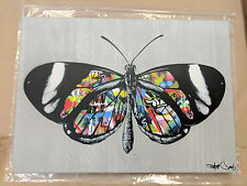 Martin Whatson Butterfly Spray Paint Original Canvas Print Poster Banksy Fairey