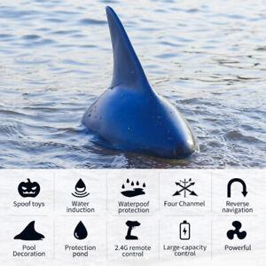 Flytec V302 2.4G 4CH Electric RC Boat Simulation Shark Swimming Toys RC Boat UK