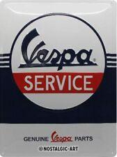 Vespa Service embossed metal sign 30cm x 40cm