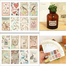 Vintage Stamp Design Diary Album Notebook Decorative Sticker Scrapbook 1PC