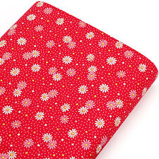 100% Cotton Fabric FQ Floral Retro Polka Dot Star Spot Patchwork FabricTime VK76