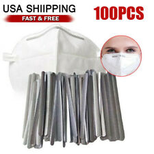 100pcs Aluminum Nose Bridge Wire StripAdjustable DIY Face Mask Making Sewing US
