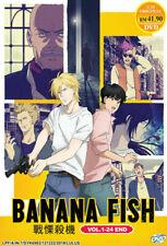 Anime DVD Banana Fish Vol.1-24 End English Subtitle