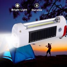 Solar Power LED Flashlight USB Rechargeable Camping Hiking Light Lantern Lamp