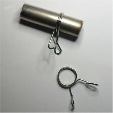 """1 Pair - Mini Quick-Release Spring Collars for 3/4"""" O.D. Bars - Rare!"""